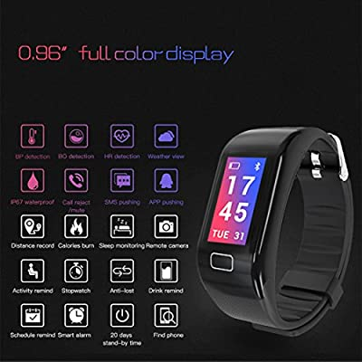 Kimitech Fitness Tracker Heart Rate Monitor Step Counter Color Screen Activity Smart Wristband Compatible with iOS and Android Suitable for Kids Women Men
