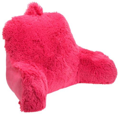 Brentwood Shagalicious Bedrest, Hot Pink (Pink Pillow Bed)