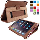 iPad Mini & Mini 2 Case, Snugg™ - Smart Cover with Flip Stand & Lifetime Guarantee (Distressed Brown Leather) for Apple iPad Mini & Mini 2 with Retina