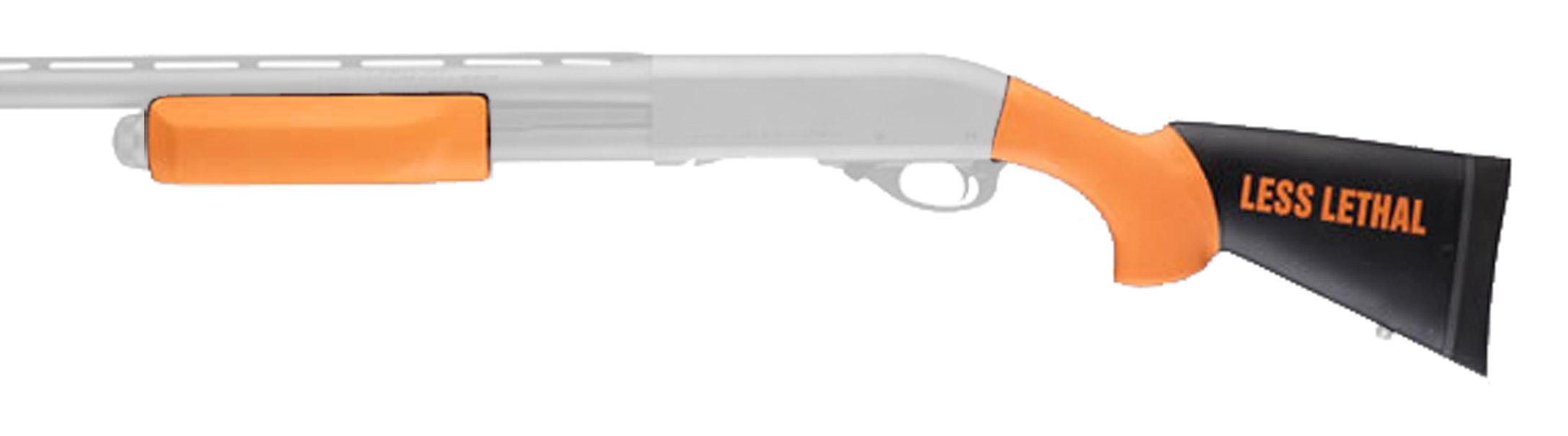 Hogue 08752 Remington 870 Less Lethal OverMolded Stock, W/Forend, 12'' Length of Pull, Orange by Hogue