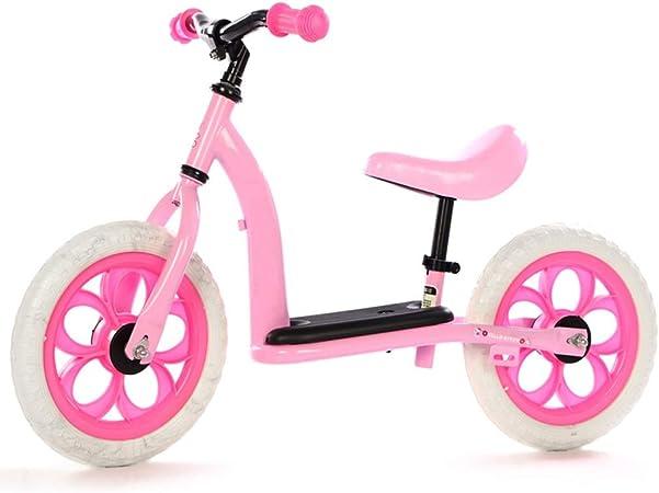 Bicicleta sin pedales Bici Bicicleta de Empuje para Regalo de cumpleaños para niña/niño - Bicicleta Liviana de Equilibrio para niños pequeños 2, 3, 4, 5,6 años (Color : Pink): Amazon.es: Hogar