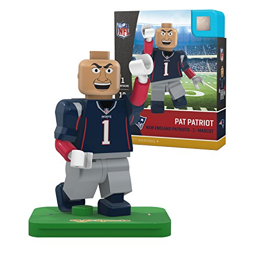iots Gen4 Limited Edition Pat The Mascot Mini Figure, Small, White (New England Patriots Limited Edition Football)