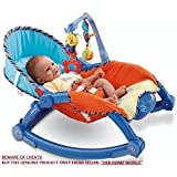 Her Home Deluxe Newborn-To-Toddler Portable & Folding Rocker Cum Chair With Soothing Vibration & Musical Toy (Excellent Quality)