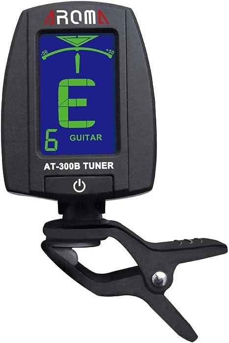 ammoon Aroma AT-300B Clip-on Afinador Eléctrico Guitarra Cromático ...