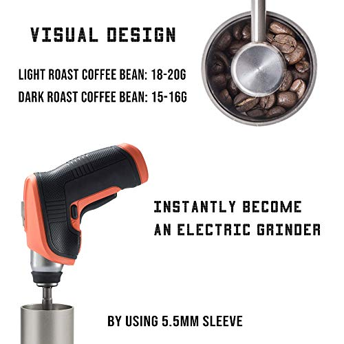 1Zpresso MINI Manual Coffee Grinder Q Series, Easy disassembly for cleaning, Small Lightweight, 15~20g Capacity, Platinum Gray by 1ZPresso (Image #6)
