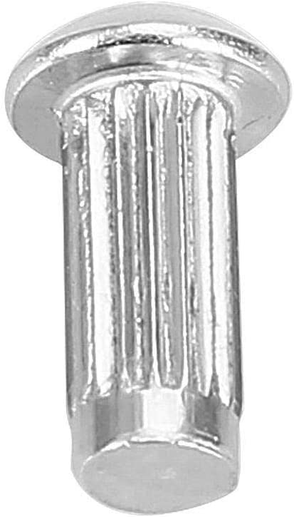 M412, 100pcs Maxmartt M4 Stainless Steel Round Head Knurled Shank Solid Rivets Assortment Set