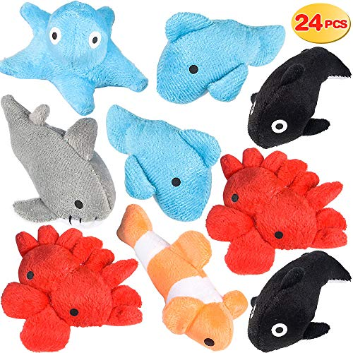 Bedwina Plush Sea Animals for Kids - (Pack of 24) 3