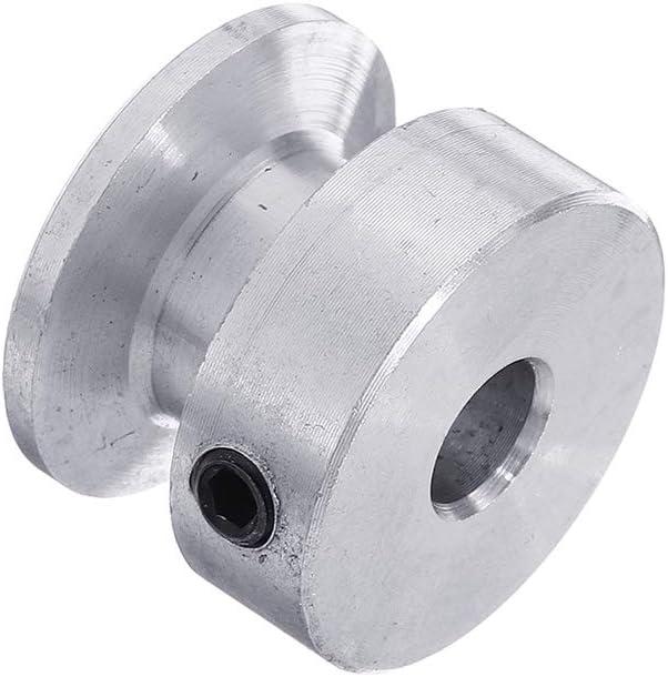 KUNSE Polea De Ranura Simple De 20 Mm 4//5//6//8//10Mm Rueda De Polea De Orificio Fijo para Eje De Motor Correa De 6Mm-4mm