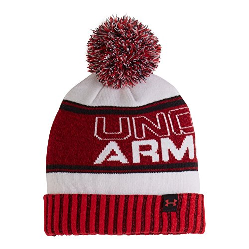 Under Armour Little Boys Retro Pom Beanie, Red Marble, 4-7 Medium