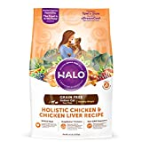 Halo Holistic Healthy Weight Dry Cat Food for Indoor Cats, Grain Free Chicken and Chicken Liver, 11.5 LB Bag of Indoor Cat Food