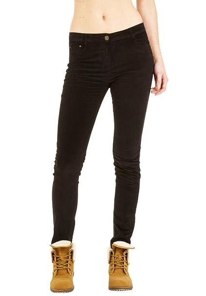 NegroAmazon Skinny Pana Estilo Slim Pantalón Mujer Luizacco Para 3RLc4jq5A