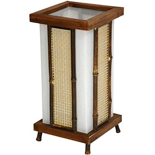 "Oriental Furniture 14"" Matsu Wood & Bamboo Shoji Lantern"