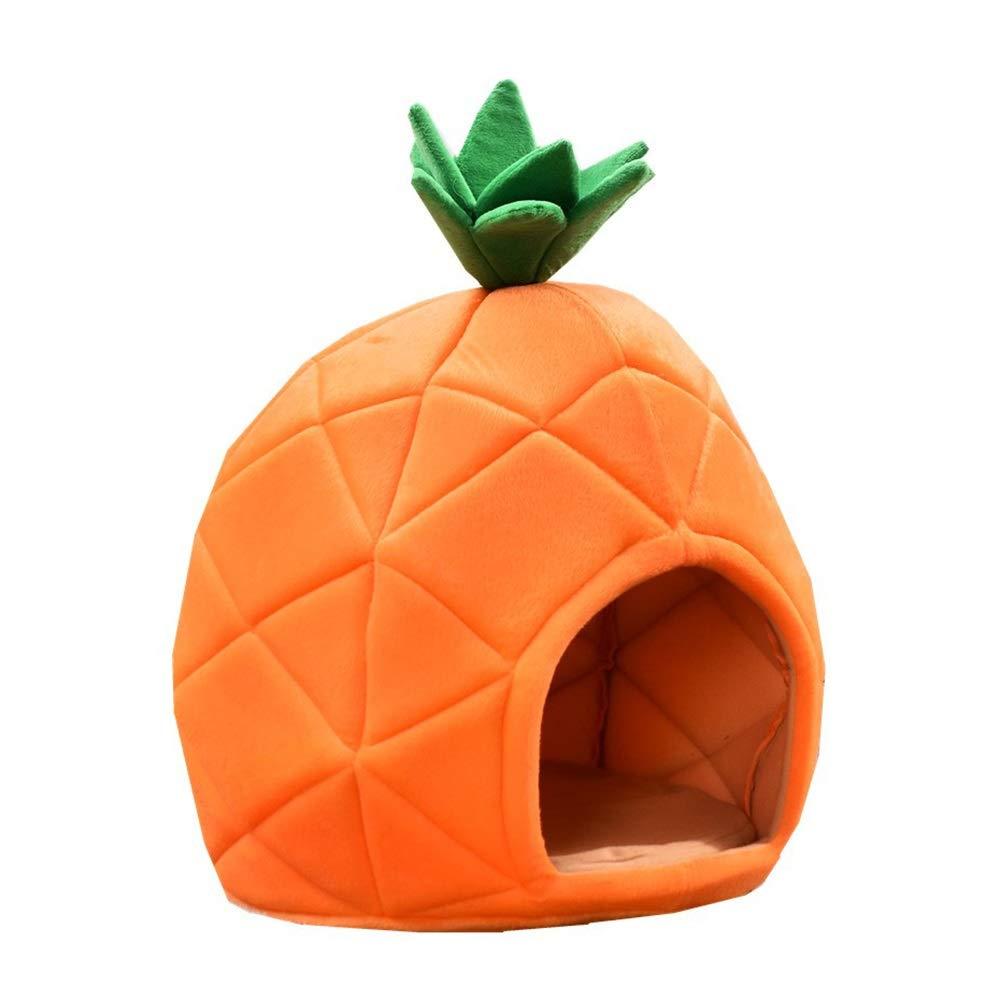 Large Four Seasons Universal Dog Nest Pineapple Nest Cute Yurt Style Medium-Small Pet Nest Cat Sleeping Bag (Size   L)