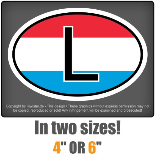 carsticker flag decal sticker colors country mark in two sizes Luxembourg Llaminated very long durable