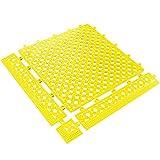 Partners Brand PMAT320YW Lok-Tyle Drainage Mats, Tile, 12'' x 12'', Yellow