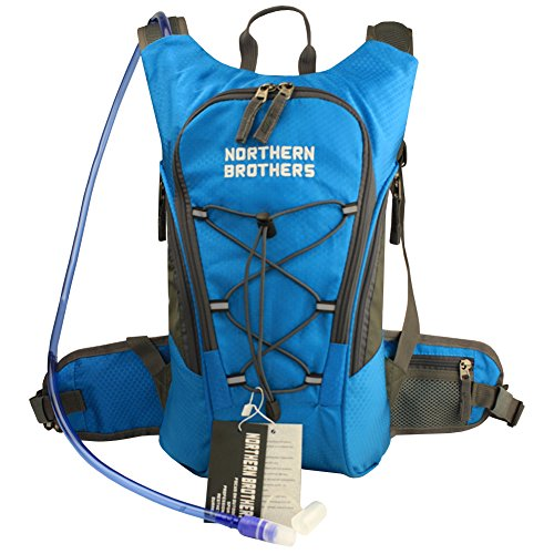 Hydration Backpack Bladder Pack Daypack with 3 Liter/100 oz Reservoirs Water Bladder Bag for Hiking, Running, Camping, Climbing, Cycling, Walking, Hunting (Blue Backpack + 3L - Rei 1 Zip 4