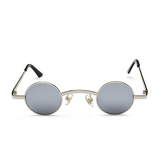e734ed584d Huicai Gafas de sol redondas pequeñas Marco de metal Lente de policarbonato  Gafas unisex: Amazon.es: Ropa y accesorios