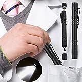 2 PCS LED Pen Light Penlight 1200 Lúmenes, High Lumen Ultra Bright Mini Pocket Pen Light Antorcha linterna con clip para Medical Doctor Nurse Students Desarrollado por 2 x AAA Battery 3 Mode