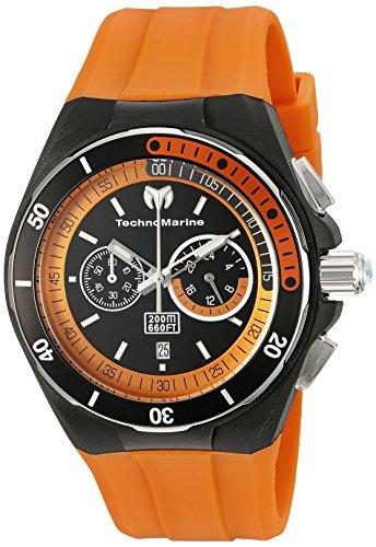 Technomarine Sport Wrist Watch - Technomarine Men's TM-115161 Cruise Sport Analog Display Quartz Orange Watch