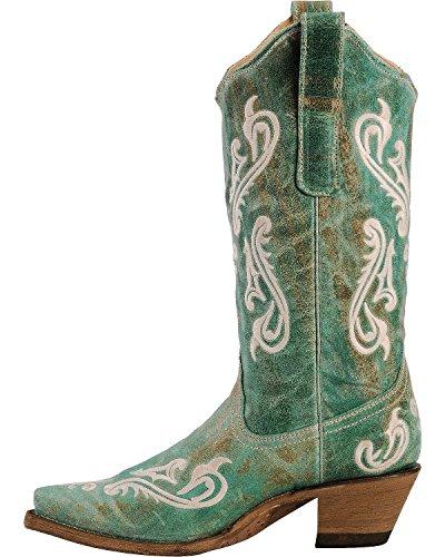 Corral Kvinnor Cortez Fleur-de-lis Turkos Cowgirl Boot Snip Tå - Turkos R1973