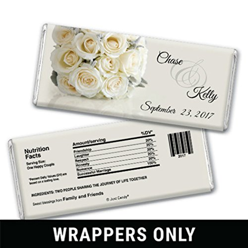 Personalized Candy Wedding Favors Timeless Bouquet (25 Wrappers) (Bar Favors Wedding Personalized Chocolate)