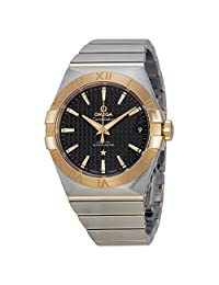 Omega Constellation Automatic Black Dial Stainless Steel and 18kt Rose Gold Mens Watch 12320382101001