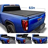 Tyger Auto T3 Tri-Fold Truck Tonneau Cover TG-BC3C1054 Works with 2019 Chevy Silverado/GMC Sierra 1500 2500HD 3500HD New Body Style   Fleetside 6.5' Bed   Without Utility Track