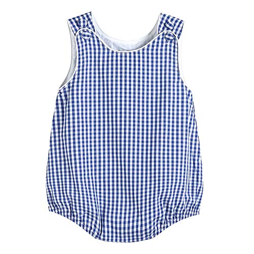 Lil Cactus 34317011092 Boys Bubble Romper Dark Blue - Bubble Infant
