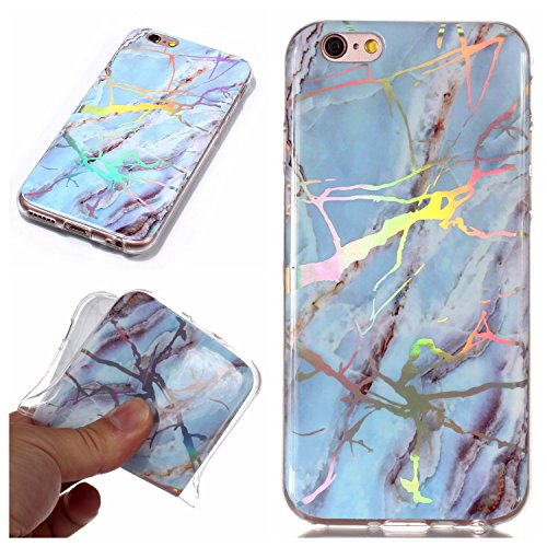 Tpu Telefono Scratch iPhone Blu Custodia Marmo Sycode Flessibile Marmo iPhone Bumper Maser Brillante Morbida per Cambia Ultrasottile Cover Modello Silicone Silicone Anti Gomma per 5S 5 Colore SE in Cover HqwznxZqRp