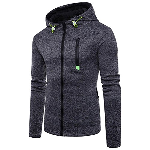 vermers Mens Casual Hoodie Sweatshirt Clearance Sale - Men's Fashion Long Sleeve Zipper Hooded Outwear Tops(2XL, (Hooded Top Company)