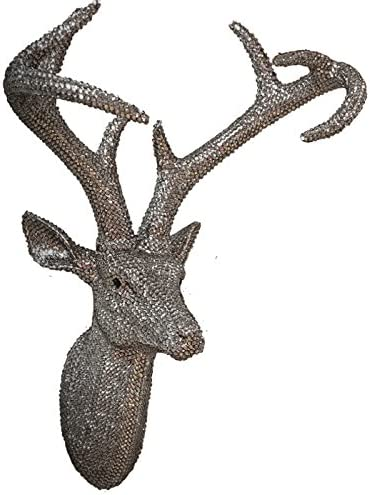 Arthouse Pewter Gray Faux Stag Décor Modern Over item Free Shipping Cheap Bargain Gift handling ☆ Deer Head