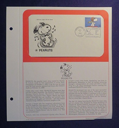 Unbranded PCS May 17, 2001 PEANUTS 1st Day Issue Cover