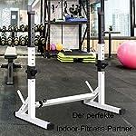 HTPJ-Rack-Squat-Regolabile-Regolabile-Tozzo-Montaggio-in-Rack-Porta-Multi-Funzione-di-Dip-Supporto-Bilanciere-Bilanciere-Stand-Portata-Massima-200kg