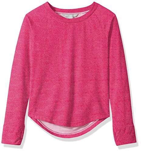 Harmony and Balance Big Girls' French Terry Top, Tibet Berry, (Terry Pullover Top)