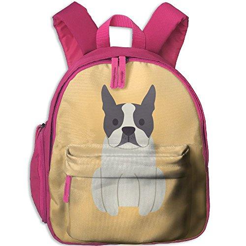 Infant Boston Terrier Costume (Boston-Terrier-dog Functional Design For Kids School Backpack Children Bookbag Perfect For Transporting For Traveling In 4 Season Pink)