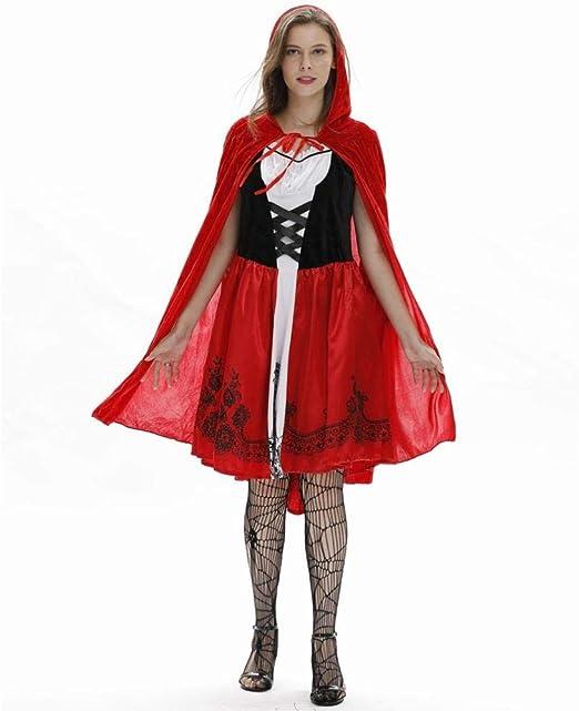 MU Señoras Europeas Y Americanas Capa Sexy Caperucita Roja Disfraz ...