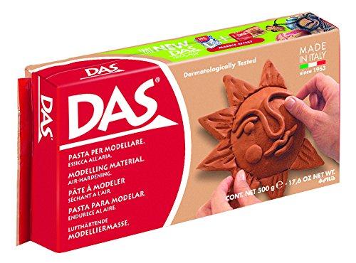 DAS Air Hardening Modeling Clay, 1.1 Pound Block, Terra Cotta (387100) (Terra Cotta Sculpture)