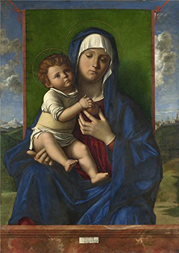 Pop Art Halloween Costume Tutorial (High Quality Polyster Canvas ,the Amazing Art Decorative Canvas Prints Of Oil Painting 'Workshop Of Giovanni Bellini The Virgin And Child ', 12 X 17 Inch / 30 X 43 Cm Is Best For Kitchen Artwork And Home Decoration And Gifts)