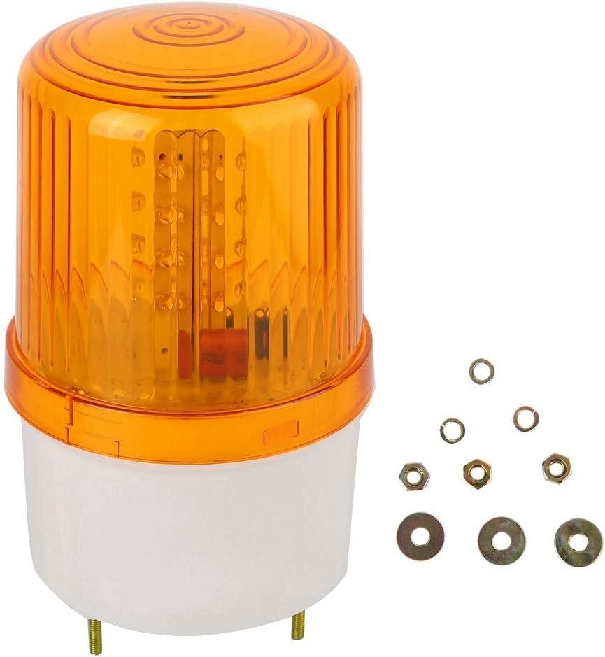 DC 12V LED Warning Light Energy Saving and Environmental Duty Booths for Roads High-Brightness LED Illuminating Core with 2 Power Cords Traffic LED Warning Light