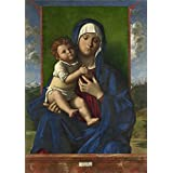 Canvas Prints Of Oil Painting 'Workshop Of Giovanni Bellini The Virgin And Child' 8 x 11 inch / 20 x 29 cm , Polyster Canvas Is For Gifts And Foyer, Home Theater And Living Room Decoration, printart
