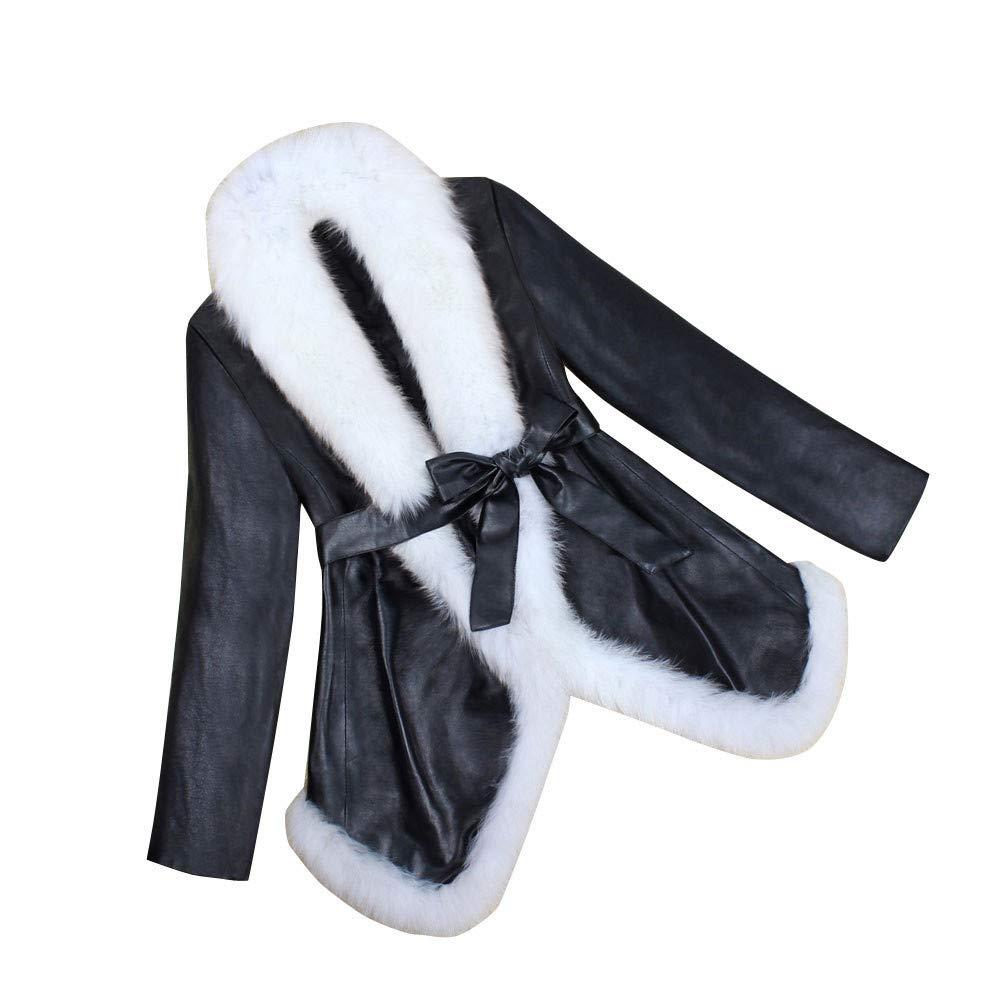 Luckycat Chaqueta de Cuero Caliente de Invierno de Las Mujeres Parka Outwear Abrigo de Abrigo de Las señoras: Amazon.es: Ropa y accesorios