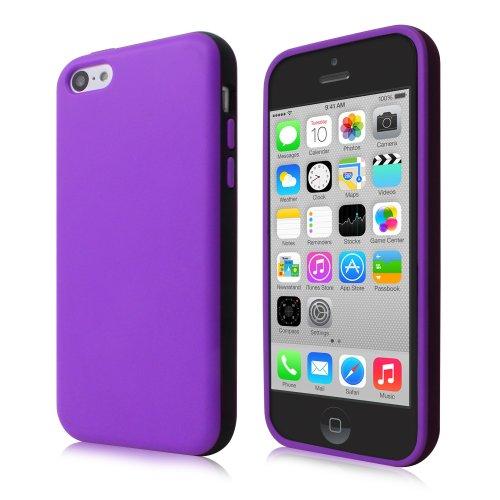 Cbus Wireless Opaque two tone TPU Flex-Gel Rubber Silicone Case / Skin / Cover for Apple iPhone 5C - Purple / Black