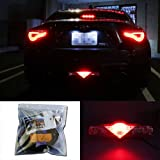 iJDMTOY Super Red 3rd LED Brake Light DIY Conversion Kit For Scion FR-S tC Subaru BRZ Toyota 86 Nissan 370Z Juke and more