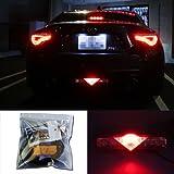 iJDMTOY Super Red 3rd LED Brake Light DIY Conversion Kit For Scion FR-S tC Subaru BRZ Toyota 86 Nissan 370Z and more