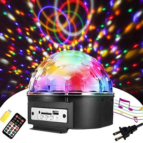 Sound Activated Party Lights with Remote Control Disco lights Dj Lighting SOLMORE Disco Ball 9 Colors Strobe Lamp 7 Modes Stage Par Light Club Party Gift Kids Birthday Wedding Home Karaoke Dance ()