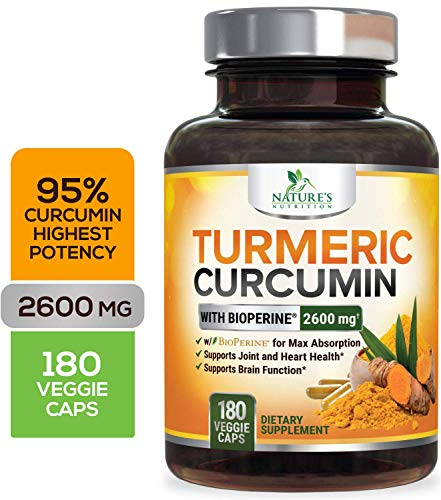 Curcuminoids Bioperine Absorption Natures Nutrition product image