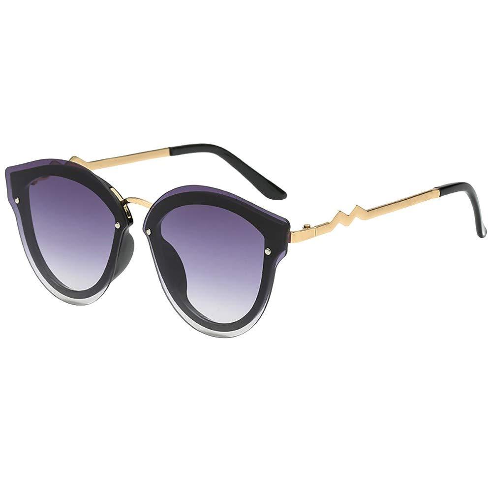 Women Man Fashion Vintage Irregular Shape Sunglasses New Style UV Protection Metal Frame Eyewear