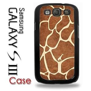 Samsung Galaxy S3 Plastic Case - Giraffe Animal Print Fur with Little Giraffe inside Cute