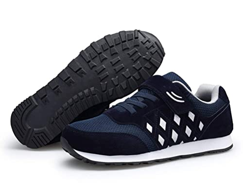 b797d4b1f52 Scennek Men s and Women s Middle-Aged Mesh Sports Shoes Casual Shoes Safety  Shoes Health Shoes  Amazon.co.uk  Shoes   Bags