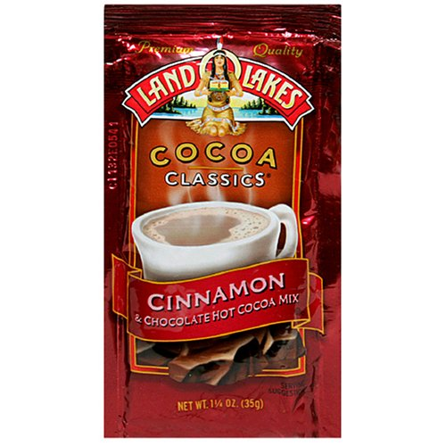 - Land O Lakes Cocoa Classics, Cinnamon & Chocolate Hot Cocoa Mix, 1.25-Ounce Packets (Pack of 72)